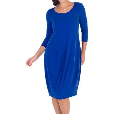 Chesca Pintuck Detail Jersey Dress, Sapphire