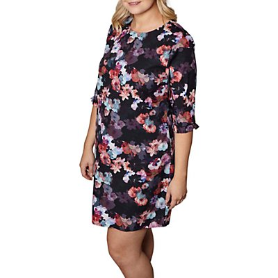 Yumi Curves Nouvea Floral Tunic Dress, Black