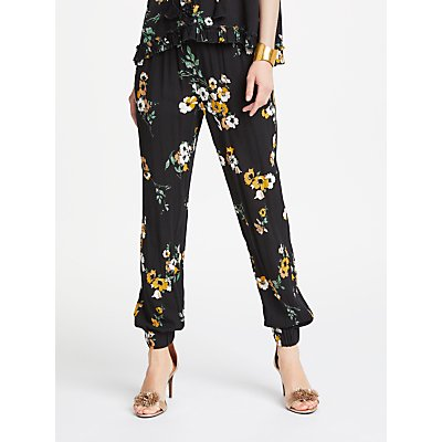 AND OR Roxanne Nevada Floral Trousers  Black Ivory Ochre - 24137980