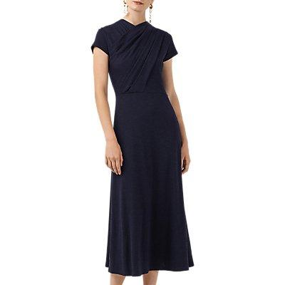 Finery Pentonville Twist Front Maxi Dress, Navy