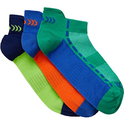 John Lewis   Partners Childrens  Fashion Sports Trainer Sock Liners  Pack of 3  Multi - 24140492
