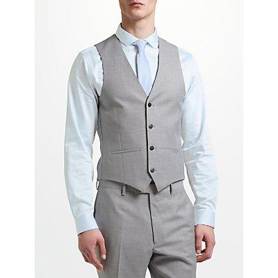 Kin by John Lewis Crepe Slim Fit Waistcoat  Light Grey - 24160421