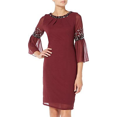 Raishma Midi Dress, Burgundy