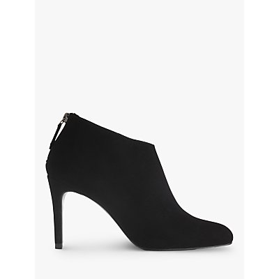 L K  Bennett Emily Stiletto Heeled Ankle Boots  Black Suede - 5054760266348