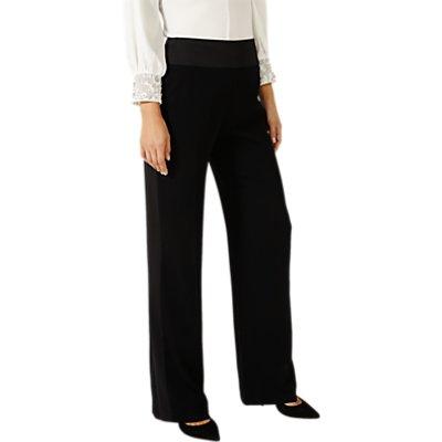 Damsel in a Dress Wide Leg Tuxedo Trousers, Black
