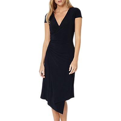 Damsel in a Dress Obi Wrap Dress, Navy