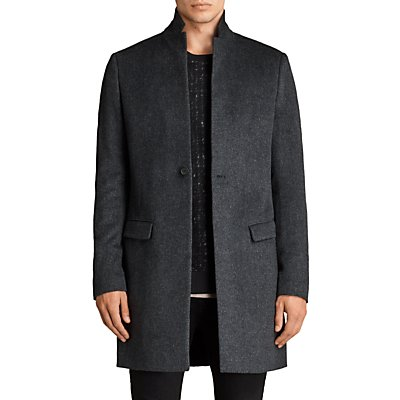 AllSaints Bodell Wool Tailored Coat  Charcoal Grey - 5057055189865