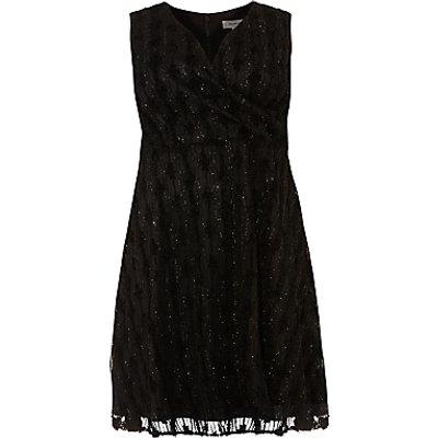 Studio 8 Sirene V Neck Sleeveless Shift Dress, Black