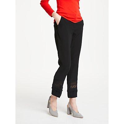 Marc Cain Lace Panel Trousers  Black - 4056255703452