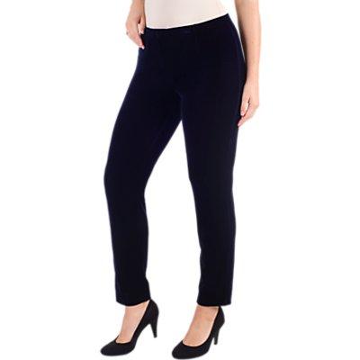 Chesca Stretch Velvet Trousers, Midnight