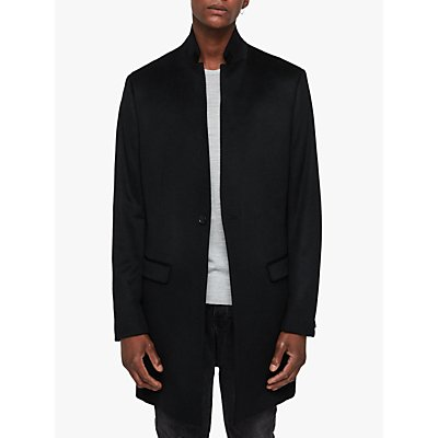 AllSaints Bodell Wool Tailored Coat  Black - 5057055189926