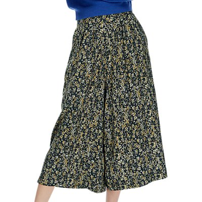 Brora Painterly Floral Print Culottes  Midnight Ochre - 5056175511365