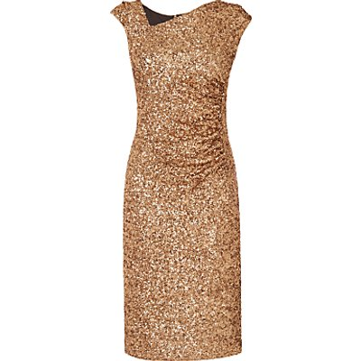 L K  Bennett Jazz Sequin Dress  Gold - 5050923912435
