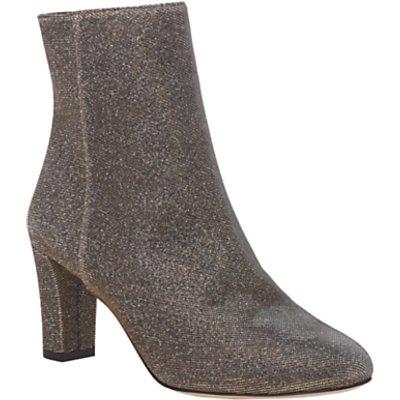 L.K. Bennett Leelah Block Heeled Ankle Boots, Bronze