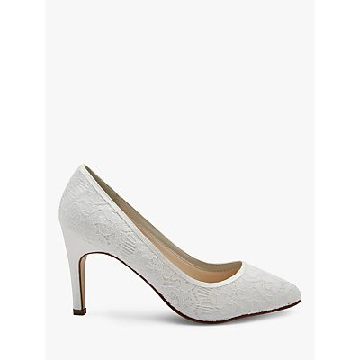 Rainbow Club Alexis Pointed Toe Court Shoes, Ivory