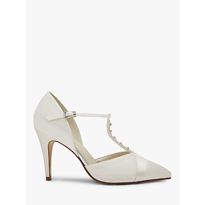 Rainbow Club Astrid T-Bar Court Shoes, Ivory