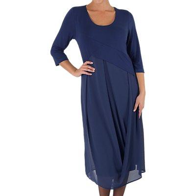 Chesca Jersey Chiffon Dress, Riviera
