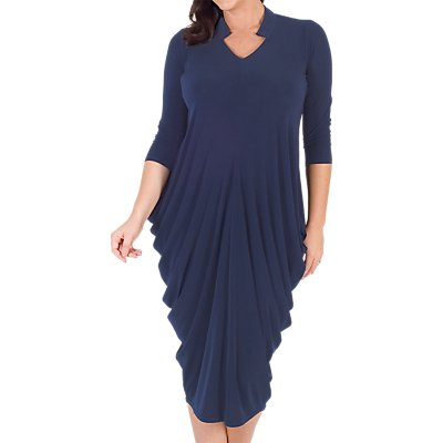 Chesca Notch Neck Jersey Dress, Riviera