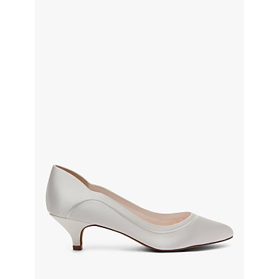 Rainbow Club Hollie Kitten Heel Court Shoes, Ivory