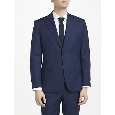 J.Lindeberg Italian Wool Puppytooth Slim Fit Suit Jacket, Mid Blue