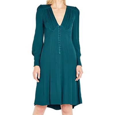 Ghost Kennedy Dress, Teal Green