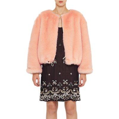 French Connection Leonie Faux Fur Jacket, Peach Fizz