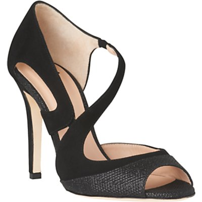 L.K. Bennett Valentina Stiletto Heeled Sandals, Black