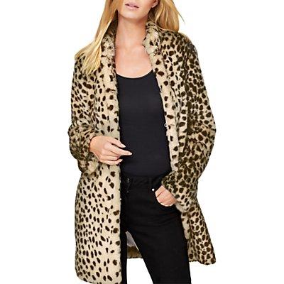 Damsel in a Dress Carter Leopard Faux Fur Coat, Leopard