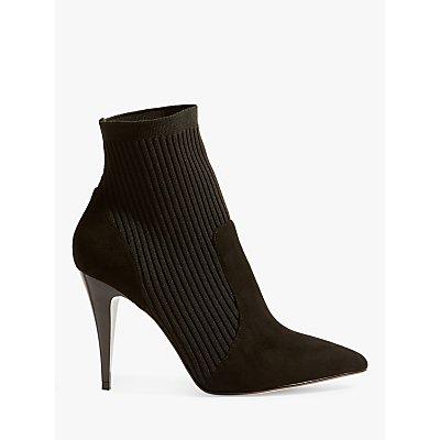 Karen Millen Knitted Stretch Stiletto Heel Sock Boots  Black - 5054236263581