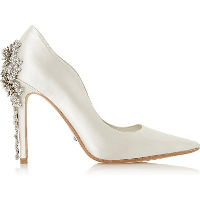 Dune Bridal Collection Be Wedd Embellished Stiletto Court Shoes, Ivory
