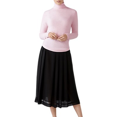 Pure Collection Soft Pleat Skirt, Black