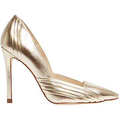 Karen Millen Pleat Detail Stiletto Court Shoes - 5054236267046