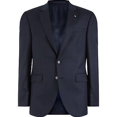 Jaeger Wool Flannel Regular Fit Suit Jacket  Charcoal - 5054589544764