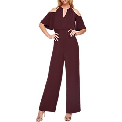 Damsel in a Dress Asha Double Layer Jumpsuit, Port