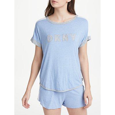DKNY Essential Lounge Logo Top  Blue - 716273216009