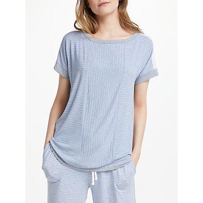 DKNY Essential Ticking Stripe Pyjama Top  Blue - 716273215699