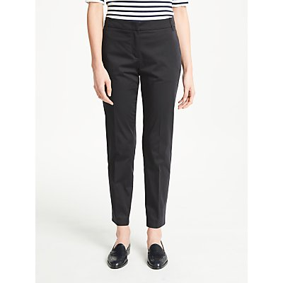 Marc Cain Cotton Sateen Ankle Grazer Trousers  Navy - 4056255687622
