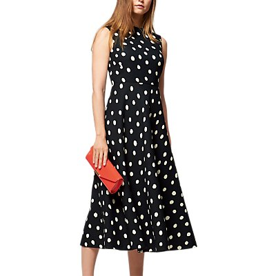 L K  Bennett Marlina Spot Dress  Black White - 5054760318214