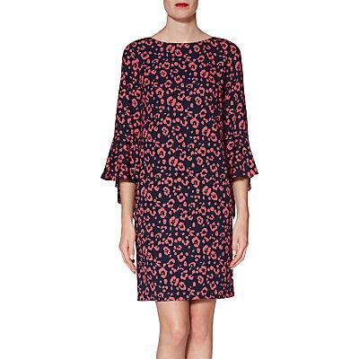 Gina Bacconi Hattie Print Dress, Navy/Coral