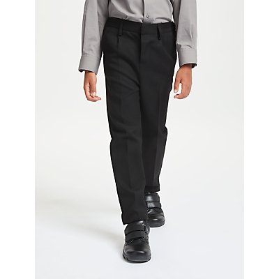 John Lewis & Partners Boys' Easy Care Adjustable Waist Slim Fit School Trousers