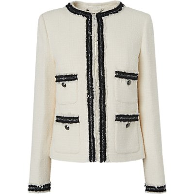 L.K.Bennett Charlee Tailored Jacket, Cream