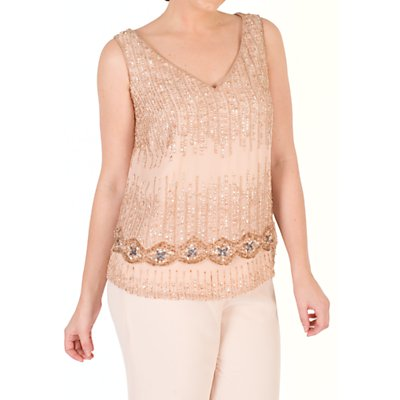 Chesca Chiffon V-Neck Top, Blush