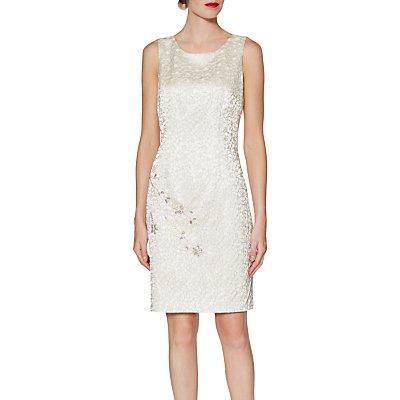 Gina Bacconi Judith Floral Jacquard Dress, Ivory