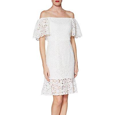 Gina Bacconi Maria Shoulderless Lace Dress