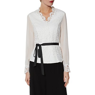 Gina Bacconi Sadie Lace and Chiffon Blouse