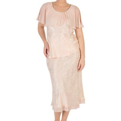 Chesca Chiffon Trim Satin Skirt