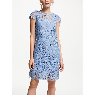 Winser London Lace Miracle Dress, Dusky Blue