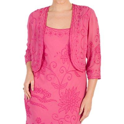 Chesca Embroidered Bolero, Rose Pink