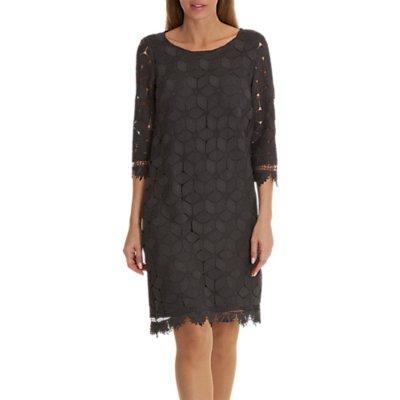 Betty & Co. Lace Shift Dress, Night Silver
