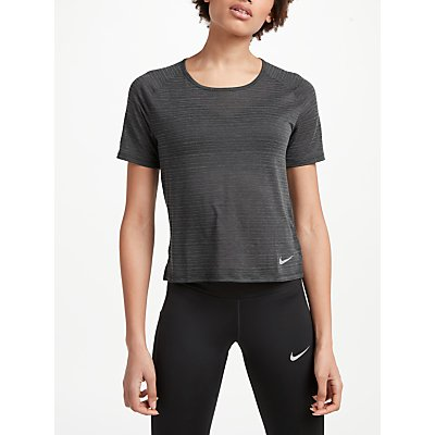 Nike Cool Miler Short Sleeve Running Top  Black - 888412838929